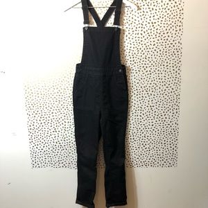 MADEWELL black denim overall SIZE 24